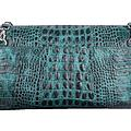 Chain Clatch Green croco